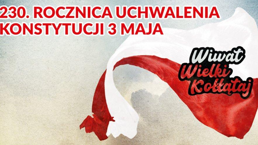 Grafika promująca działania SCK w ramach obchodów 230. rocznicy uchwalenia Konstytucji 3 Maja