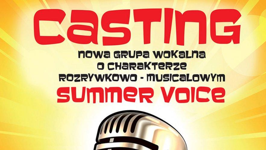 Grafika promująca casting do grupy wokalnej Summer Voice
