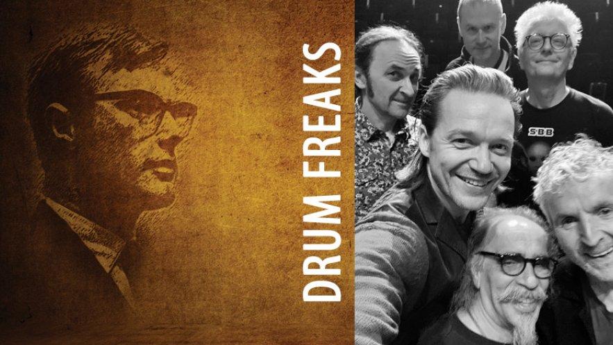 Grafika promująca koncert zespołu Drum Freaks