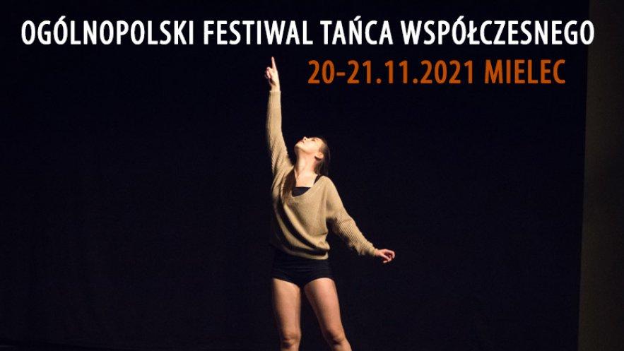Grafika promocyjna Ogólnopolskiego Festiwalu Tańca Współczesnego w Mielcu