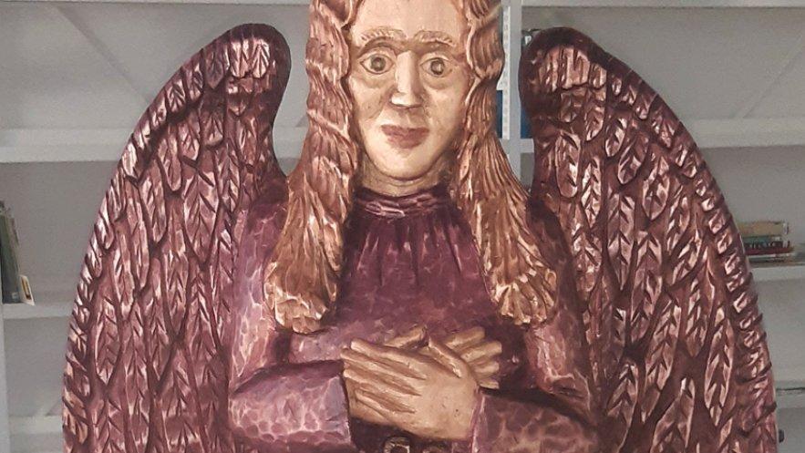 Grafika promująca wystawę Stanisława Szęszoła