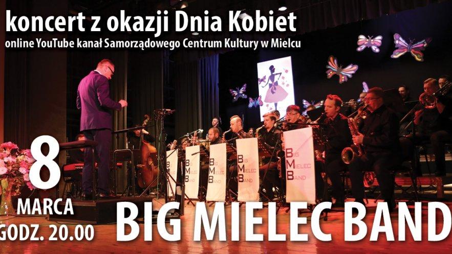Grafika promująca koncert Big Mielec Band z okazji Dnia Kobiet